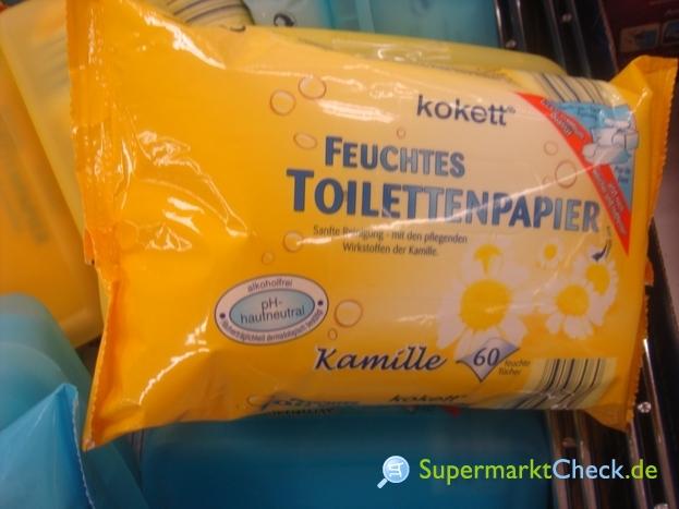 Foto von Kokett feuchtes Toilettenppier