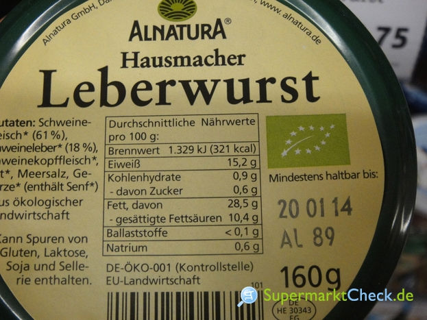 Foto von Alnatura Hausmacher Leberwurst
