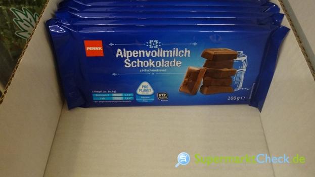 Foto von Penny Alpenvollmilchschokolade