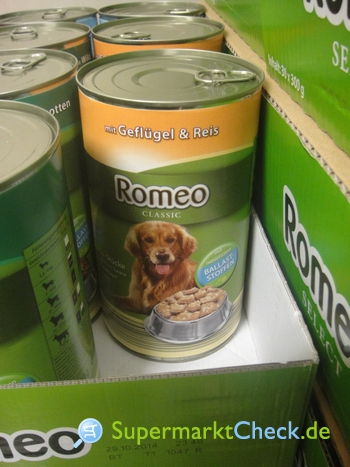 Foto von Romeo CLASSIC Hunde-Vollnahrung
