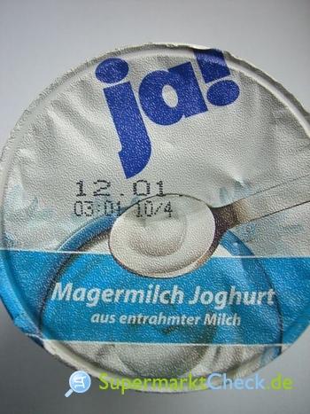 Foto von Ja! Magermilch Joghurt mild