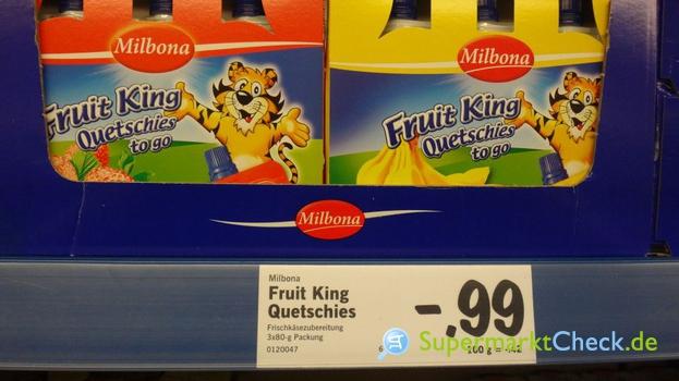 Foto von Milbona Fruit King Quetschies to go