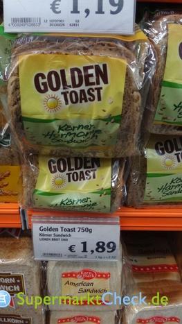 Foto von Golden Toast Körner Harmonie Sandwich
