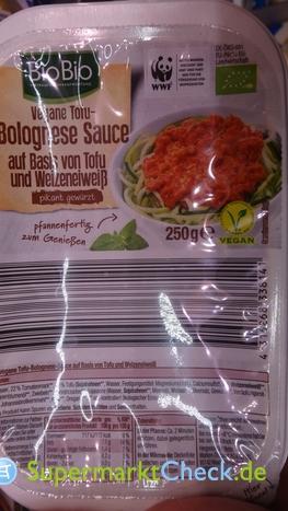 Foto von BioBio Tofu Bolognese Sauce