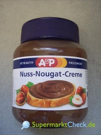 Foto von A&P Nuss-Nougat-Creme