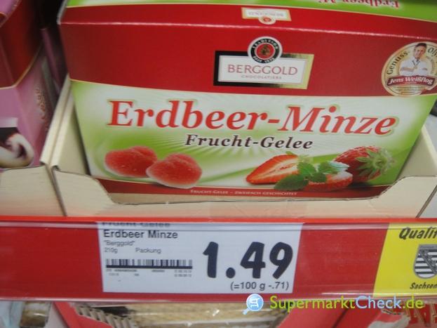 Foto von Berggold Erdbeer Minze Frucht Gelee