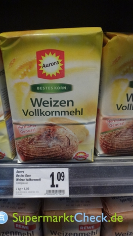 Foto von Aurora Bestes Korn Weizen-Vollkornmehl