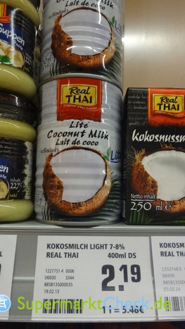 Foto von Real Thai Kokosnussmilch light
