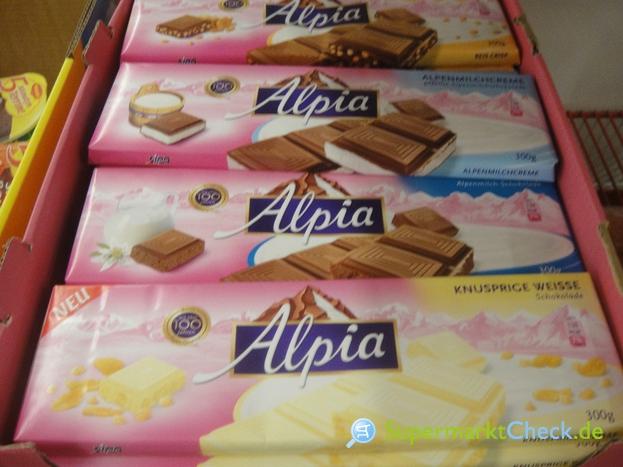 Foto von Alpia Alpenmilch Schokolade