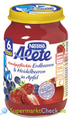Foto von Alete Handgepflückte Erdbeeren & Heidelbeeren in Apfel