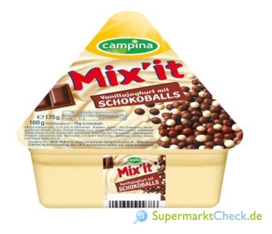 Foto von Campina Mix it Vanillajoghurt
