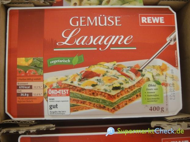 Foto von Rewe Gemüse Lasagne