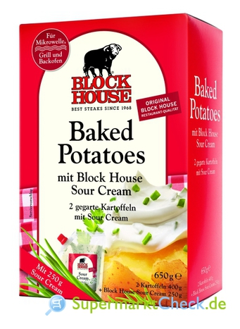 Foto von Block House Backed Potatoes