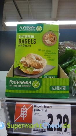 Foto von Poensgen Bagels mit Sesam