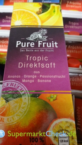 Foto von Pure Fruit Tropic Direktsaft