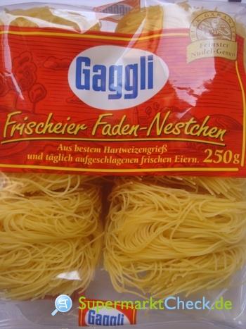 Foto von Gaggli Frischeier Nudeln Faden Nestchen