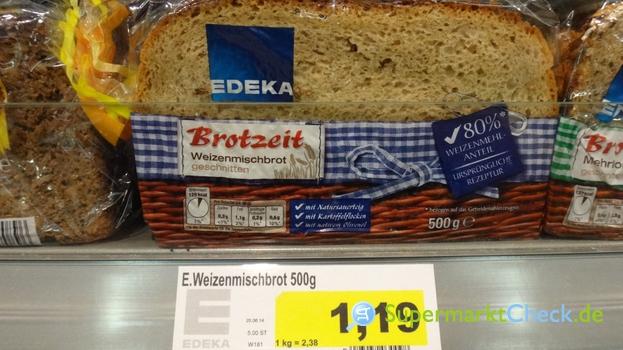 Foto von EDEKA Brotzeit Weizenmischbrot