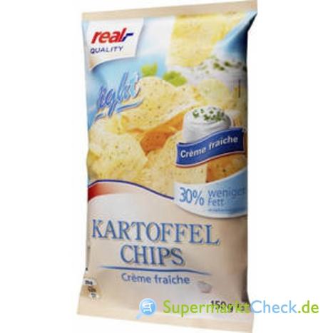 Foto von real Quality Kartoffel Chips light