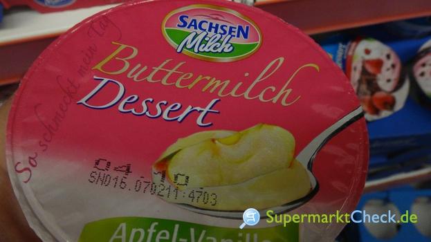 Foto von Sachsenmilch Buttermilch Dessert