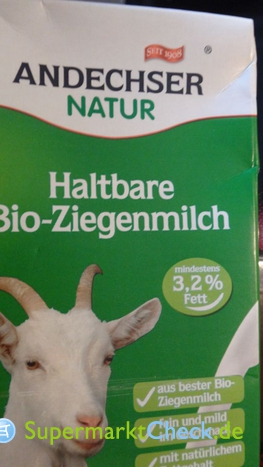 Foto von Andechser Natur Haltbare Bio-Ziegenmilch