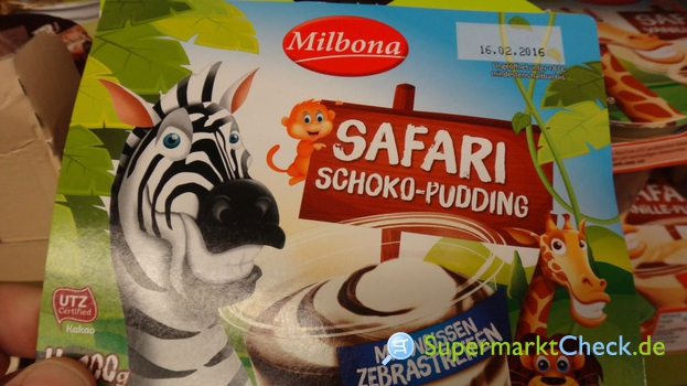 Foto von Milbona Safari Schoko Pudding