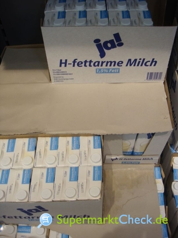 Foto von Ja! H fettarme Milch