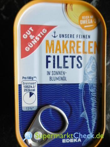 Foto von Gut & günstig Makrelen Filets in Öl