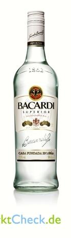 Foto von Barcardi Superior Light Dry Rum