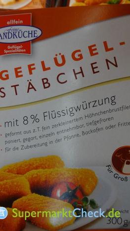 Foto von Allfein feine Landküche Geflügel Stäbchen