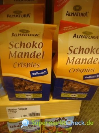 Foto von Alnatura Schoko Mandel Crispies
