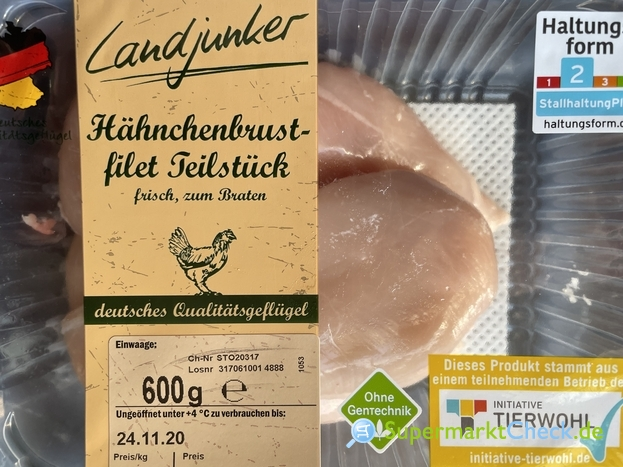 Foto von Landjunker Hähnchenbrustfilet Teilstück HKL A