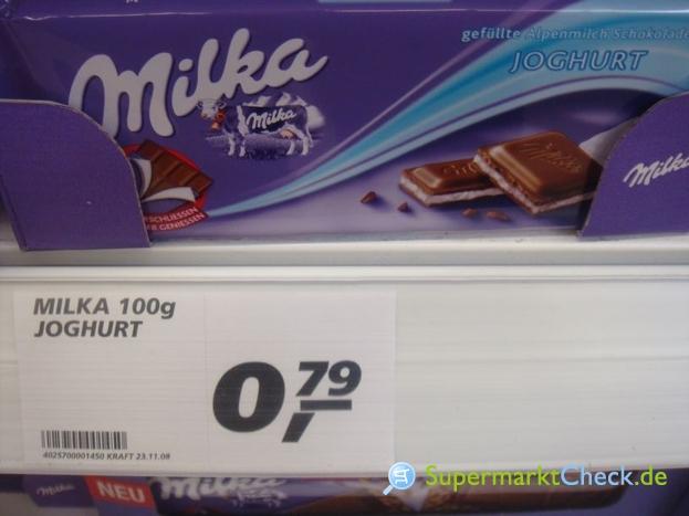 Foto von Milka Joghurt Schokolade