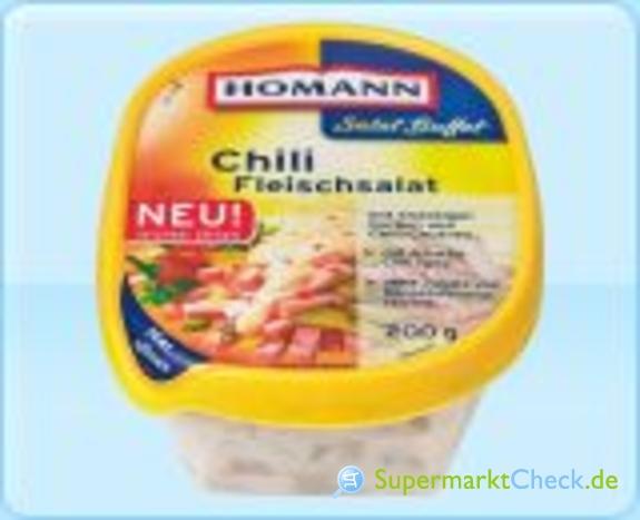 Foto von Homann Salat Buffet Chili Fleischsalat