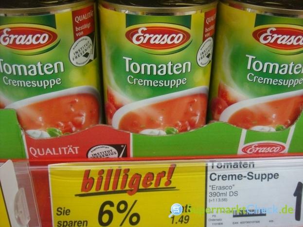 Foto von Erasco Tomaten Cremesuppe