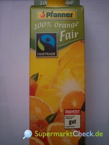 Foto von Pfanner 100% Orange Fair
