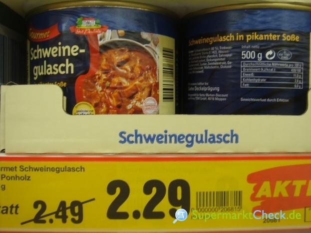 Foto von Gut Ponholz Gourmet Schweinegulasch