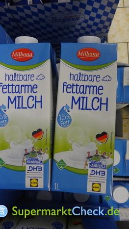 Foto von Milbona Haltbare fettarme Milch