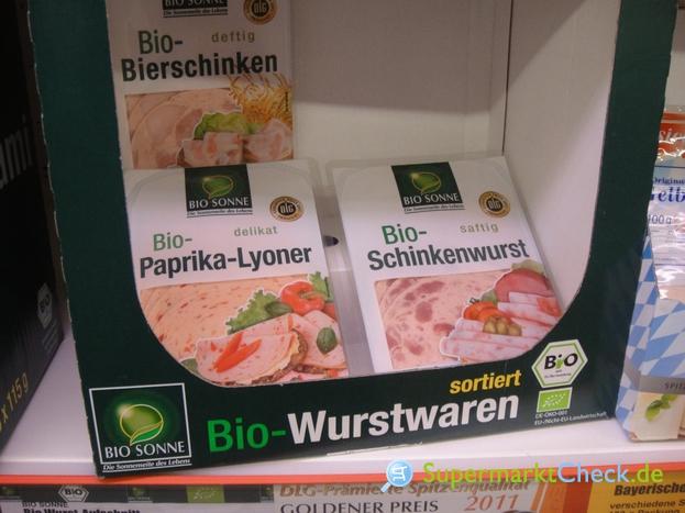 Foto von Bio Sonne Bio Schinkenwurst