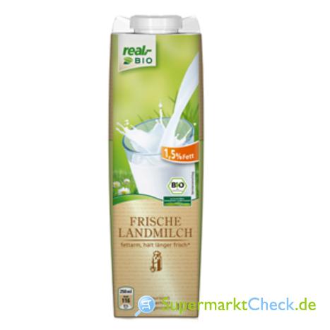 Foto von real bio Frische Landmilch