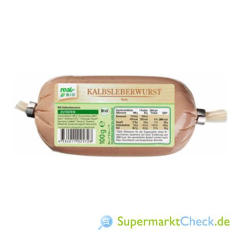 Foto von real bio Kalbsleberwurst
