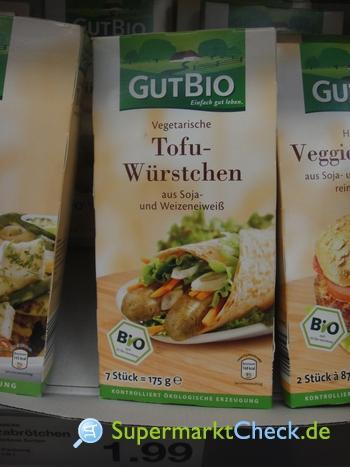 Foto von Gut Bio Tofu Würstchen