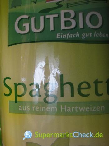 Foto von Gut Bio Spaghetti