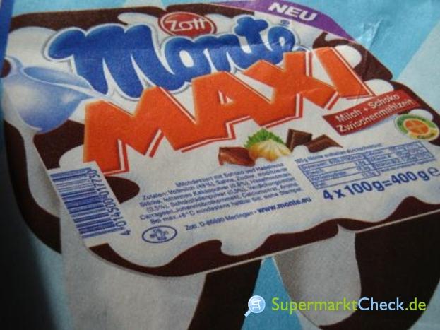 Foto von Zott Monte Maxi Milch + Schoko Zwischenmahlzeit 4-er