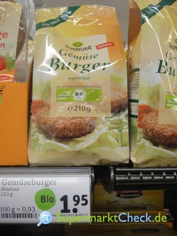 Foto von Alnatura Gemüse Burger