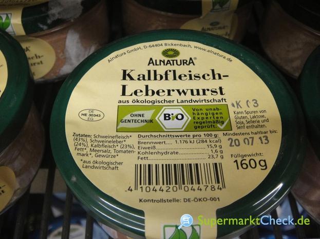 Foto von Alnatura Kalbfleisch Leberwurst