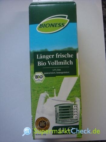 Foto von Bioness Länger frische Bio Vollmilch