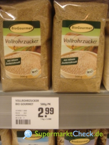 Foto von Bio Gourmet Vollrohrzucker