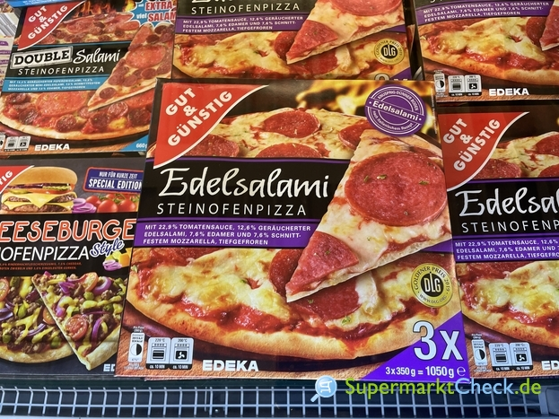 Foto von Gut & Günstig Steinofen Pizza 3-er