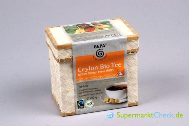 Foto von Gepa Ceylon Bio Schwarztee