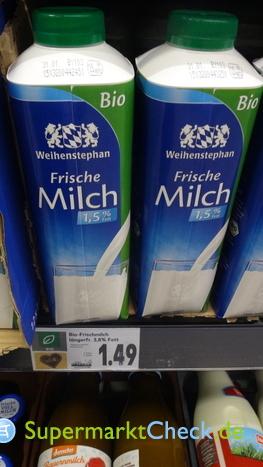 Foto von Weihenstephan Frische Bio Milch
